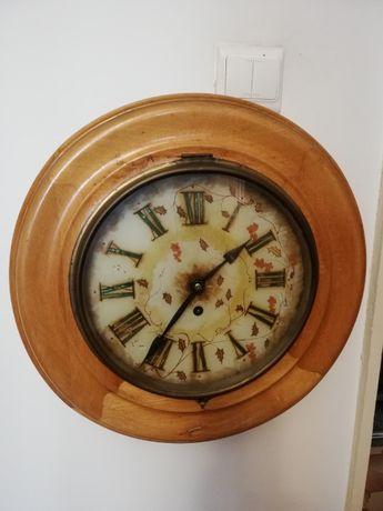ceas perete cadran pictat cu pendulet - format mare
