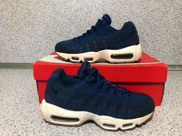 ОРИГИНАЛНИ *** Nike Air Max 95 Premium Leather / Blue Dark Blue