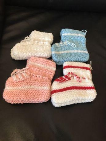 Плетени терлички за бебета-нови