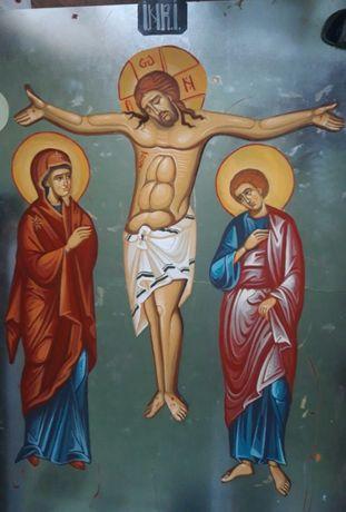 Rastignirea Domnului , pictura pe tabla zincata