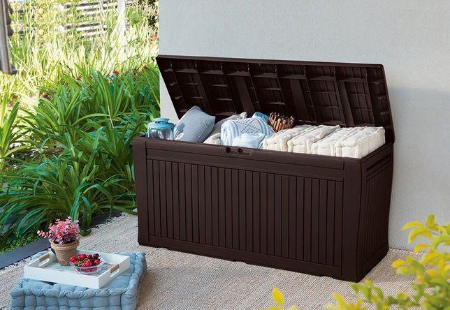 Cutie depozitare tip cufar Comfy pentru gradina, terasa,balcon XL