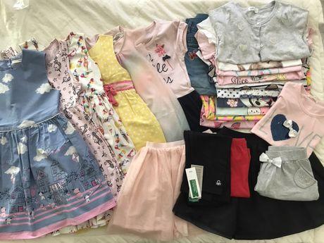 Рокли, тениски, клинове, дънки и др. размер 110-116, до 10 лв