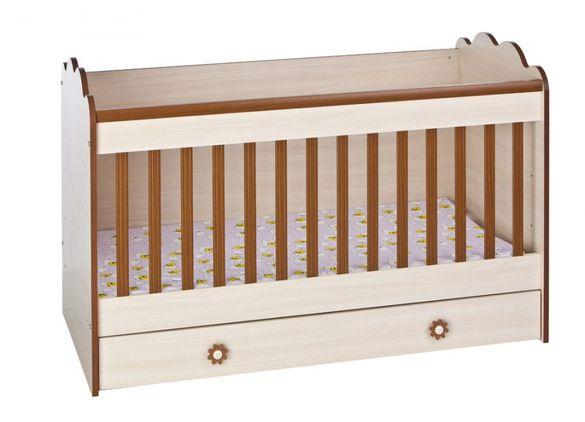 Детско легло с матрак 140см/70см с опция за вдигане и сваляне височина