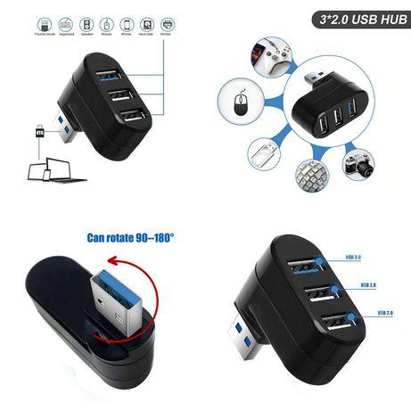 USB HUB 3.0/2.0-USB Адаптер-Разклонител-зарядно-завъртащо рамо-кабел