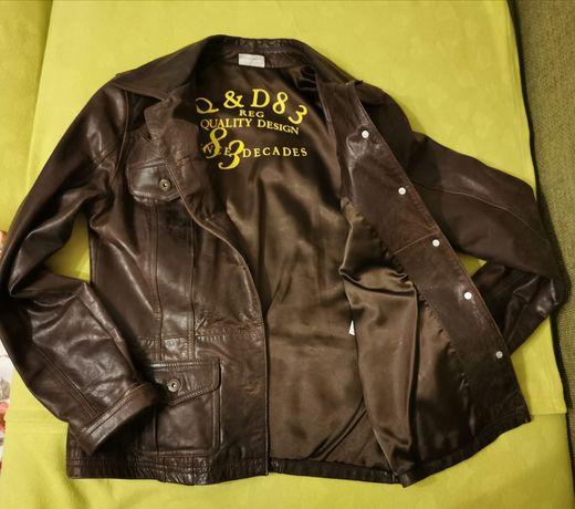 Vând jachetă (geacă) piele-dama. Impecabila. Aspect vintage. Mar. 38