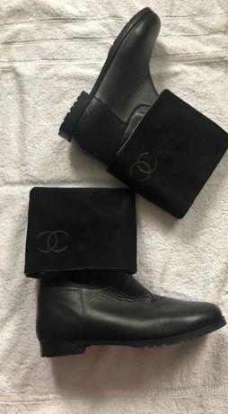 Продам женские сапоги зимнее кожаные