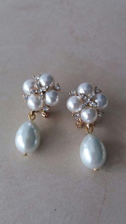 Cercei din perle ideal pt mireasa