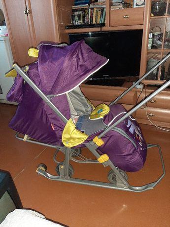 Детские Санки коляска.