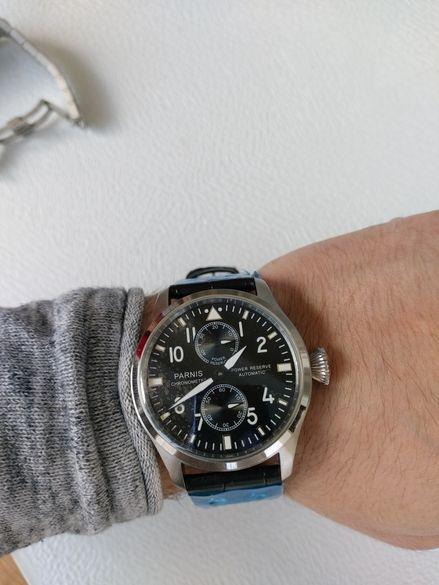 Мъжки автоматичен часовник Parnis хоумидж на IWC, panerai, seiko rolex