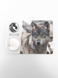 Moneda argint 999 lingou + blister card , Maple Leaf 2021, 31 grame