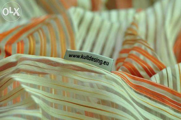 Единично перде/завеса в оранжево