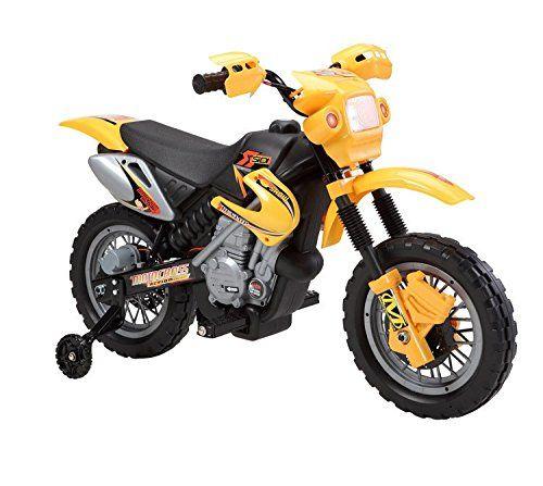 Motocicleta electrica pentru copii BJ014 45W 6V STANDARD #Galben