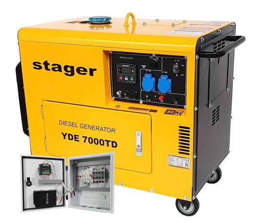 Generator Insonorizat Stager YDE7000TD, Diesel, 4.2 kVA + Automatizare