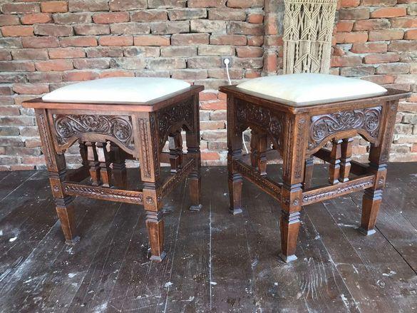 Столчета/ Табуретки - дърворезба