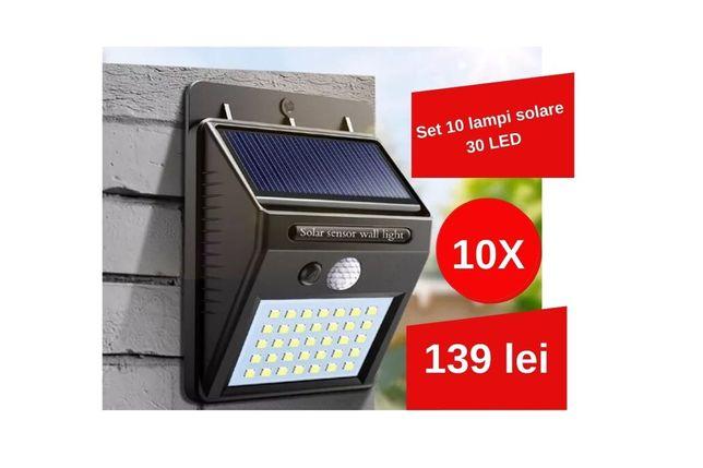 Set 10 Lampi Solare senzor de miscare