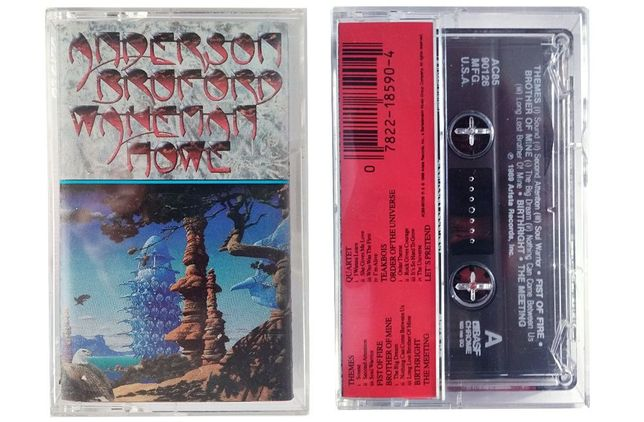 фирменные аудио кассеты The CURE, YES, Melvin James и др.