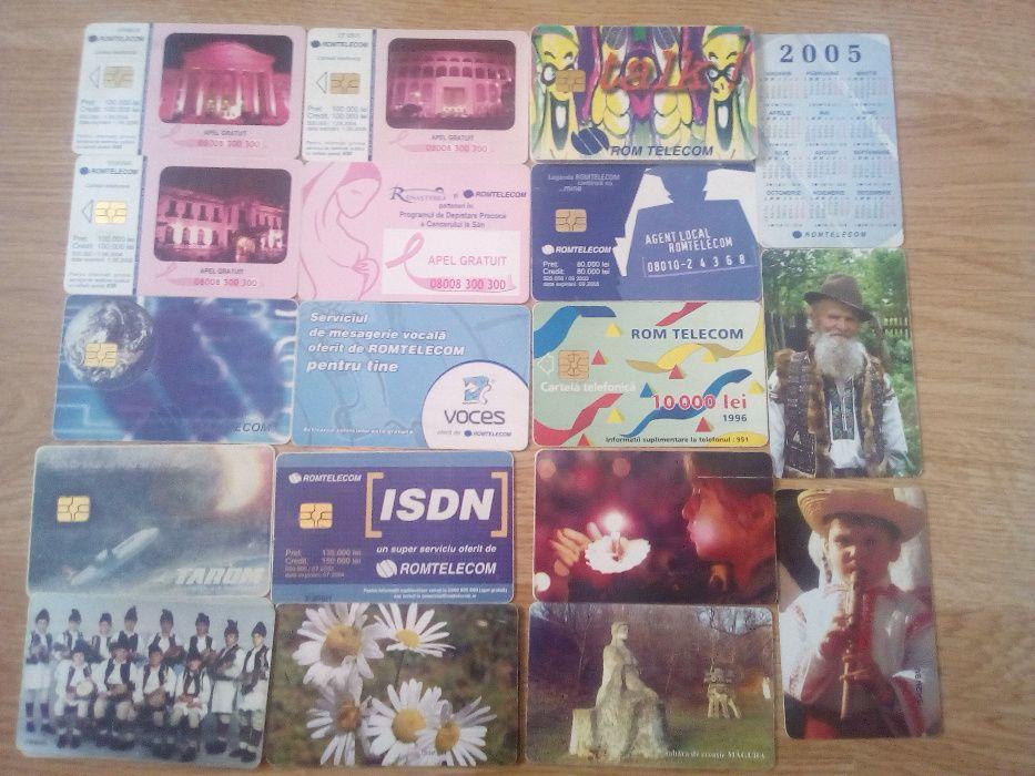 colectie 70 de cartele Romtelecom 1993-2012