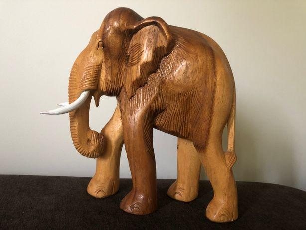 Elefant sculptat in lemn,statueta africana