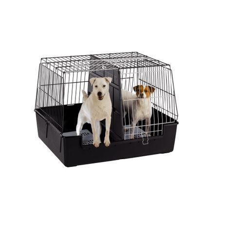 Транспортна клетка за кучета – ATLAS VISION LARGE GREY 100Х60Х66СМ