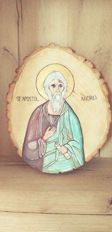 Icoana Sf Andrei pictata pe lemn