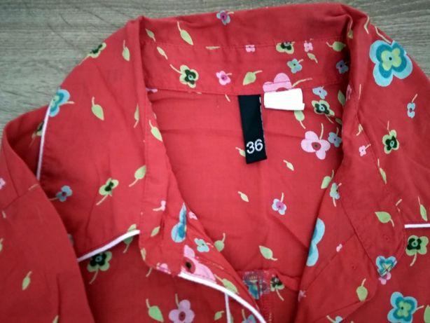Camasa rosie flori dama HM - marime 36 S