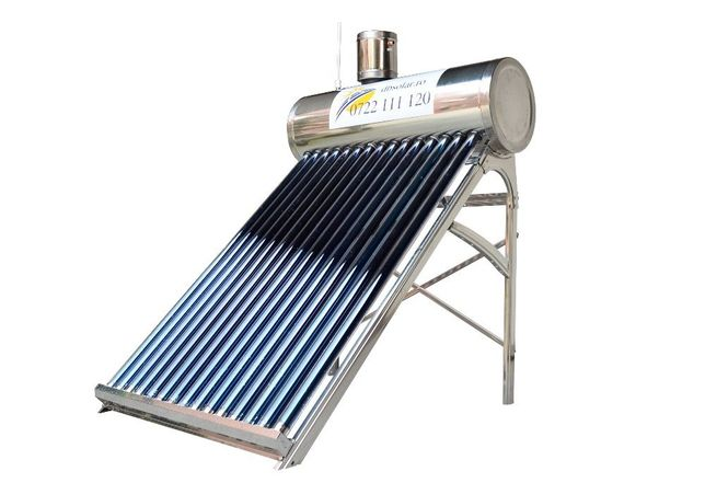 PANOU solar apa calda BOILER INOX 130L Apa nepresurizat panouri NOU‼️