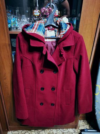 Пальто с капюшоном XL