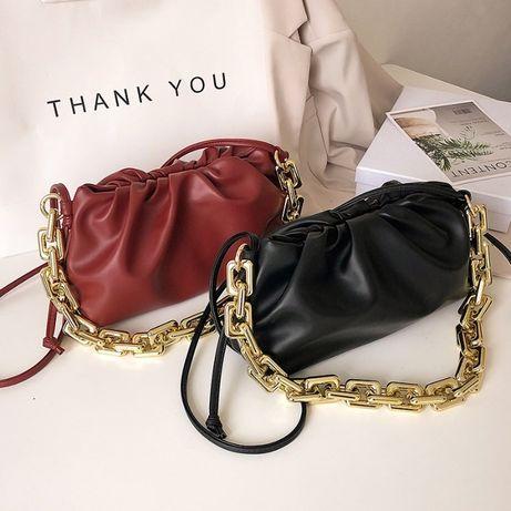 Дамска чанта с отделяща се верижка / Клъч - различни цветове