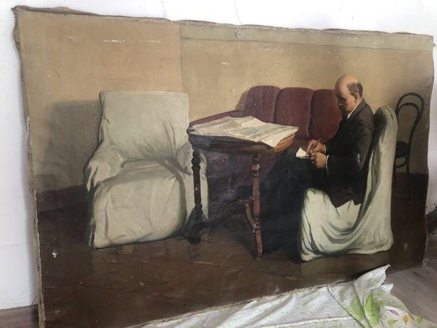 Картина Ленин в смольном