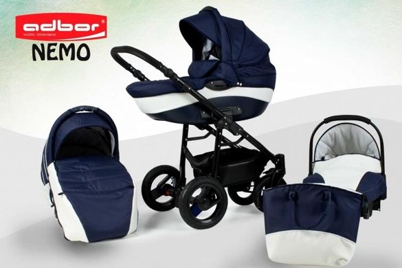 Детска количка 3в1 Adbor Nemo Blue and White
