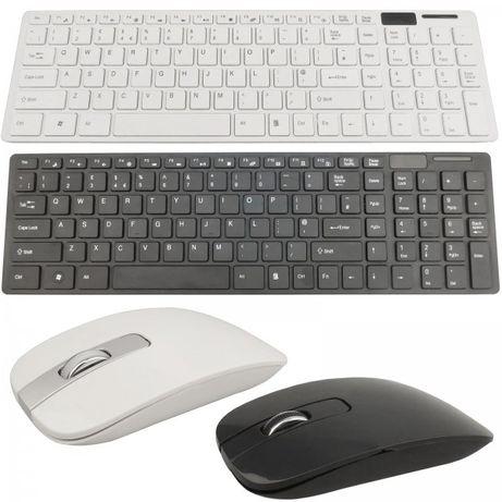 БЕЗЖИЧНА клавиатура с мишка - портатривен стилен комплект