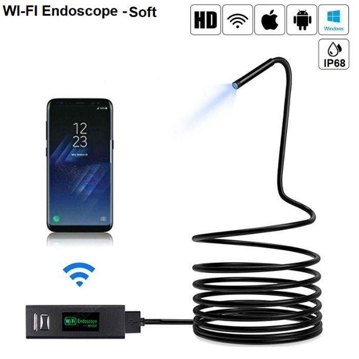Wifi ендоскопска камера soft вариант – hd 1200p – съвместим с android