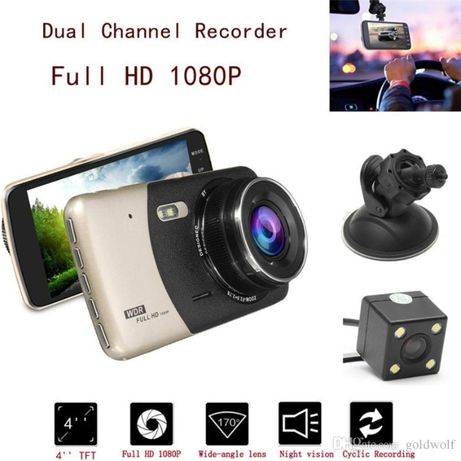 Лукс FullHD Видеорегистратор с камера за паркиране парктроник видео