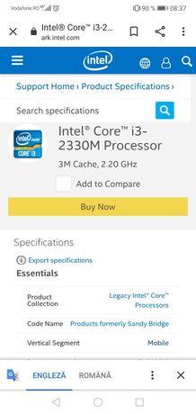 Procesor Intel I3-2330 M
