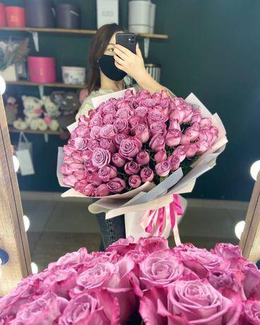 Голландские розы / цветы Караганда