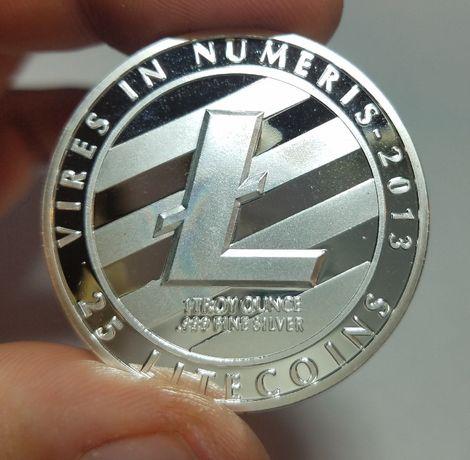 Висок клас Litecoin Ethereum Dash BITCOIN Биткойн монета монети