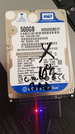 Hard disk HDD laptop WD Scorpio Blue 500 GB WD5000BEVT - 10%