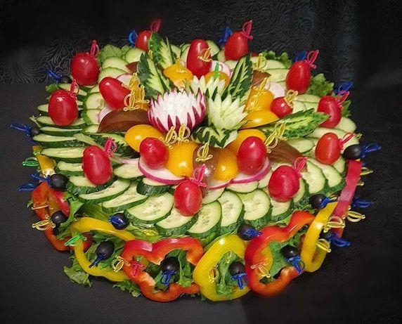 Овощные нарезки на мероприятия