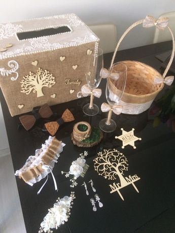 Аксесоари/украса/декорация за сватба тип рустик/горска