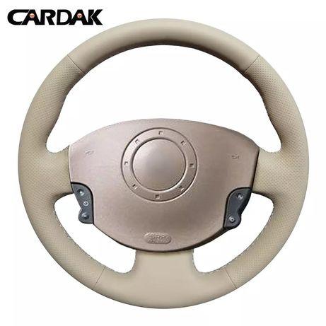 Husă dedicata volan piele sintetica Renault Megane 2