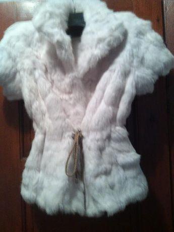 Елек-палто цели кожи чинчила с ръкав
