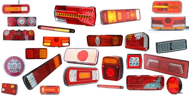 Triple remorci camioane led neon lampi gabarit pozitie far