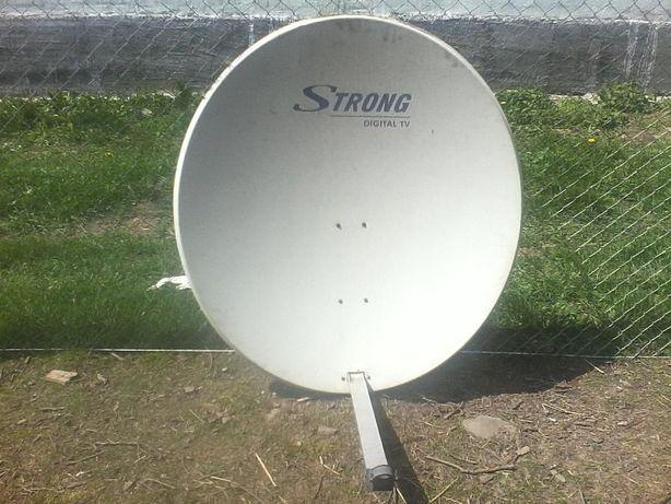 Antena offset 120 cm TRIAX (otel) + lnb QUAD cu 4 iesiri