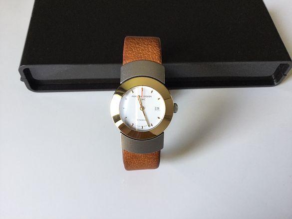 Оригинален швейцарски дамски часовник IWC Porsche Design злато titan