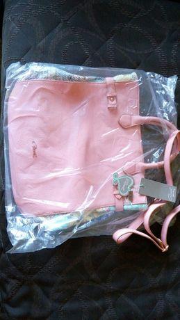 Дамска чанта Axel, нова, кожа и текстил
