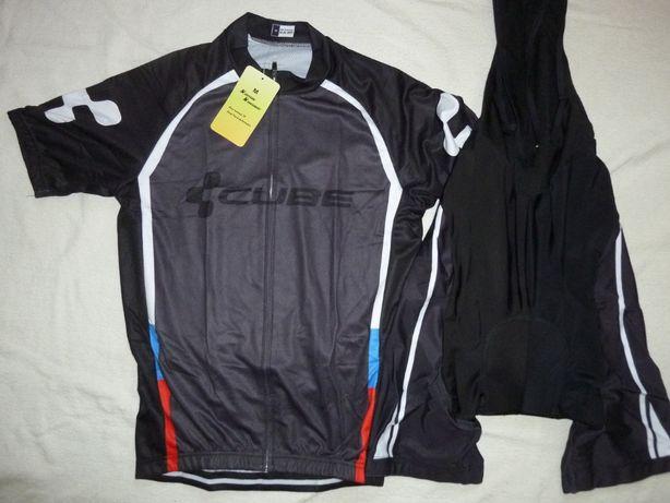 Echipament ciclism CUBE Black Line set nou tricou pantaloni