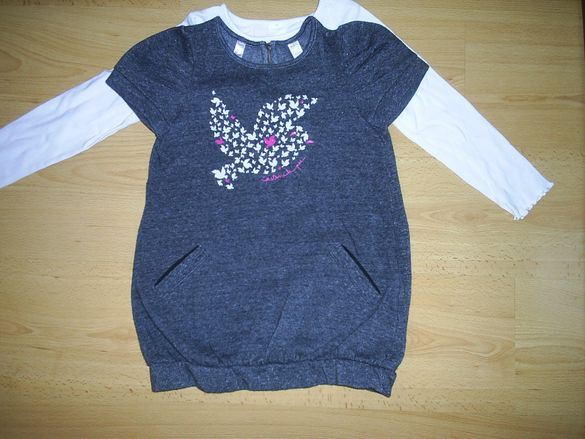Стилно сукманче на Окайди+блузка на Паломино,116-112