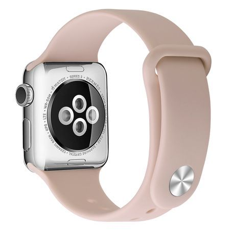 Curea pentru Apple Watch 38/40 mm, Silicon, Pink