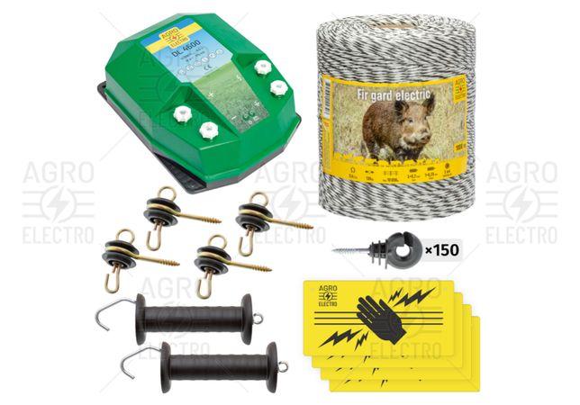 Pachet de bază gard electric 1000 m, 4,5 J, pentru animale sălbatice
