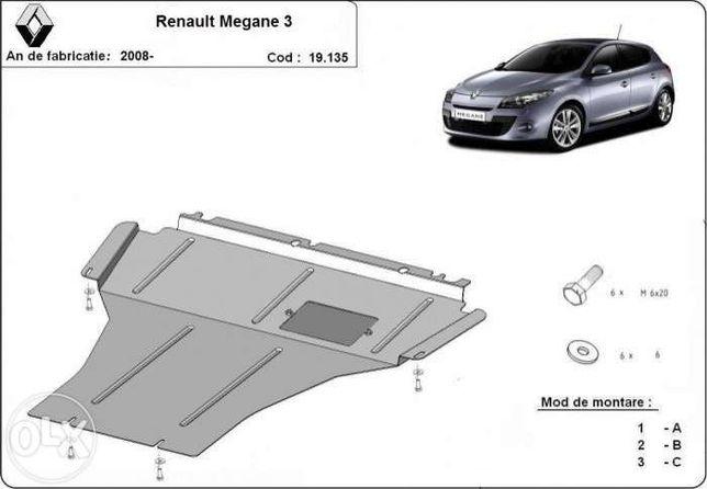 Scut metalic pentru motor Renault Megane 2008-2016 - otel 2mm
